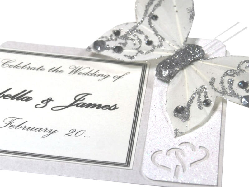 Wedding Motif Feather Butterfly
