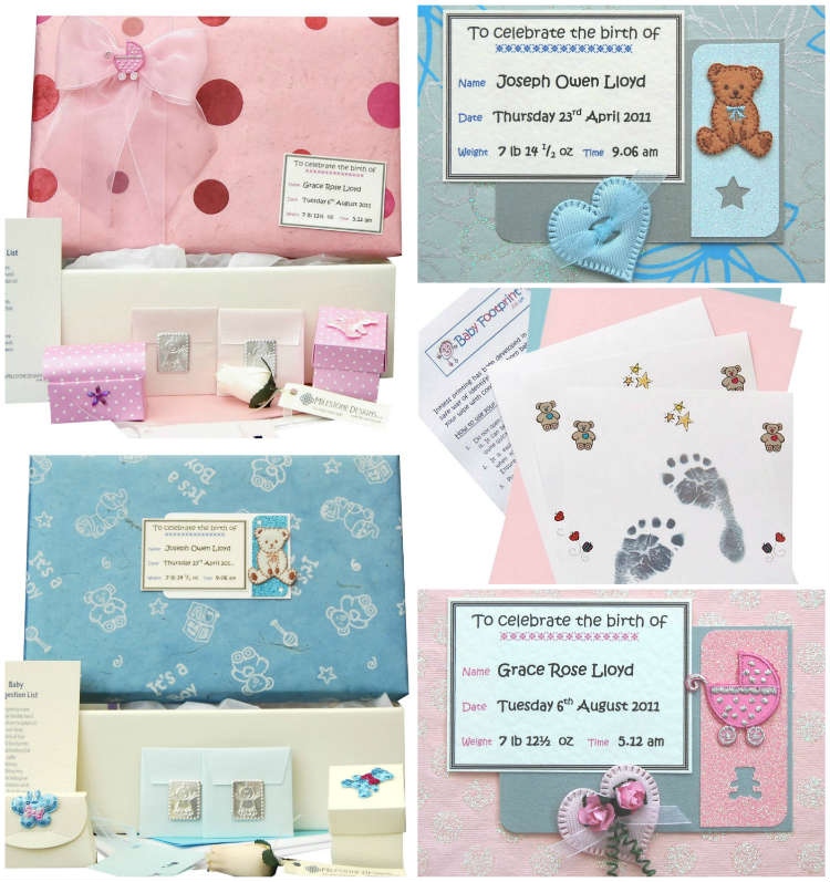 Personalised Baby Keepsake Memory Boxes, Books & Cards