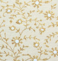 Floral Gold Cream Handmade Cotton Paper