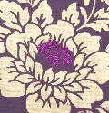 Purple Floribunda with Glitter Centres Handmade Cotton Paper