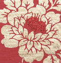 Red Floribunda with Glitter Centres Handmade Cotton Paper