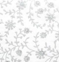 Silver Floral Handmade Cotton Paper