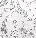Large Silver Glitter Paisley Handmade Cotton Paper